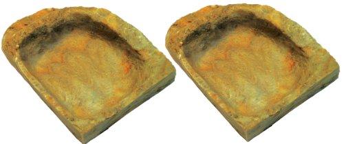 Namiba Terra 25715 Ecknapf, 7 x 10 x 2.5 cm Doppelpack, gelb