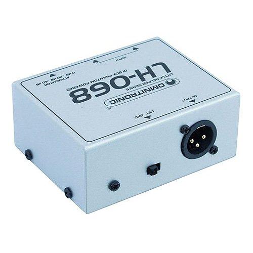 Omnitronic 057222 LH-068 Boîte de DI alimentation fantôme Argenté 10355068