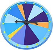 Yardwe Color Spinning Prize Wheel Spinner 10 Slots Fortune Game Wall Hanging Spinning Raffle Wheels for Birthd