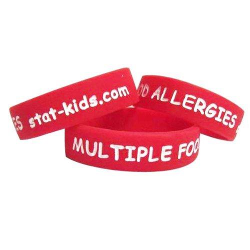 STATkids Multiple Food Allergies Bracelet - 3 Pack (XSmall)