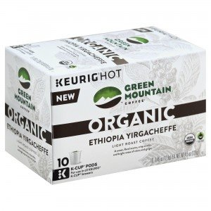 Green Mountain Coffee Organic Ethiopia Yirgacheffe K-Cups 10 ct (Pack of 2)