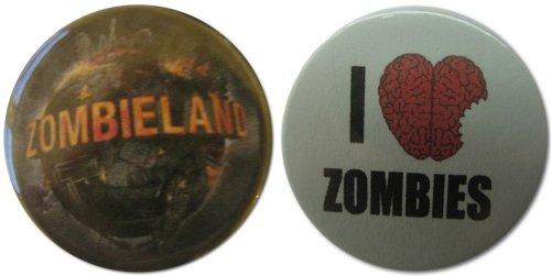 Zombieland & I Heart Zombies 1.25 Inch Magnet Set -
