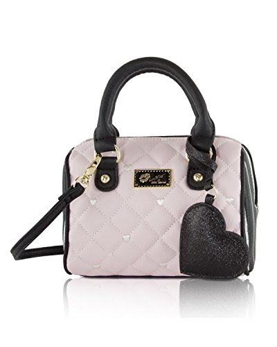 Betsey Johnson Womens Bag - Luv Betsey Johnson Harlii Mini Crossbody Satchel Bag - Pink/Black