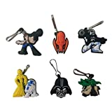Star Wars Snap Hook Zipper Pulls 6 Pcs Set #1