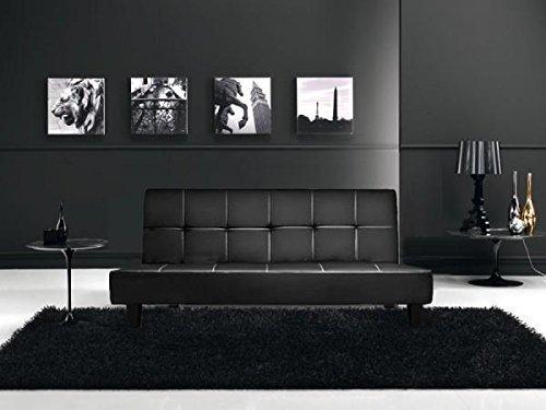 divano nero design per salotto, divano letto.