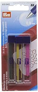 Prym 610842 - Minas de repuesto para portaminas (extra finas, 3 paquetes de 6 unidades)