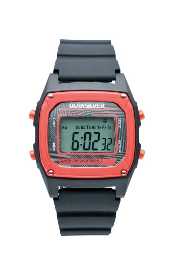Quiksilver M150DR 8T - Reloj digital de caballero de cuarzo con correa de plástico roja (