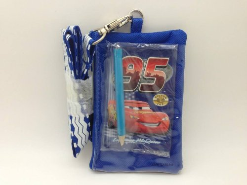 Cars Mater Lightning Mcqueen KeyChain Lanyard Fastpass ID Ticket Holder Blue (Cars Lanyard)