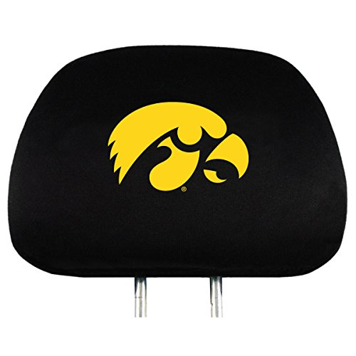 NCAA Iowa Hawkeyes Head Rest Covers, 2-Pack