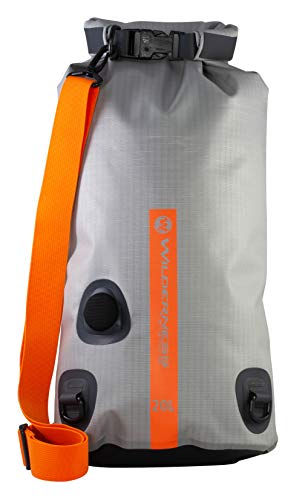 (Wilderness Systems Waterproof XPEL Dry Bag with Valve & Shoulder Strap - Size - converts to Cooler, Grey, 20L)