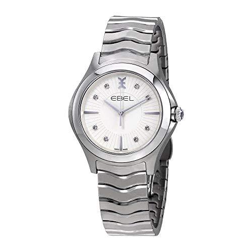 Ebel Wave Watch - EBEL Women's 1216302 Analog Display Swiss Quartz Silver Watch