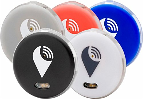 TrackR pixel - Bluetooth Tracking Device. Item Tracker. Phone Finder. iOS/Android Compatible - 5 color, Black, White, Gray, Red and Blue. by TrackR
