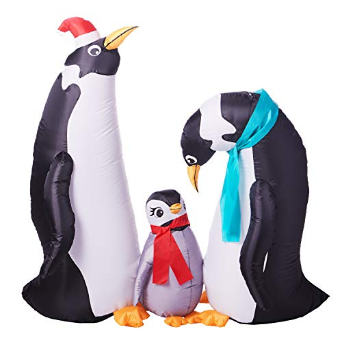 Holiday Time Penguin Family Inflatable, 5 Ft Wide, 4 Ft Tall