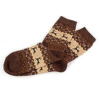 Hot ! Wool Socks, Ninasill Christmas Deer Design Casual Knit Wool Socks Warm Winter Mens Women