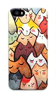 Colorful Rabbits Pattern Iphone 5 5S Hard Protective 3D Cover Case by Lilyshouse