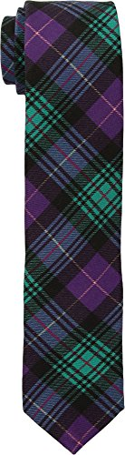 Ted Baker Neckties (Ted Baker Mens Downtown Plaid Berry One Size One Size)