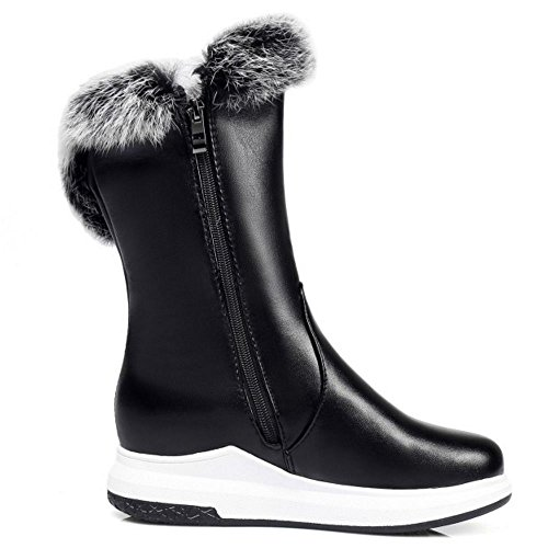 Taoffen Black Snow Boots Women's Zipper w6Fq0T4C
