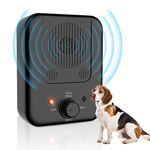 ulpeak Anti Barking Device, Sonic Stop Barking Device with 4 Adjustable Levels for 50 Feet Effective No Dog Bark, Dog…