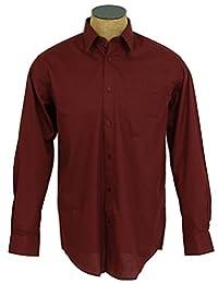 Sunrise Outlet Boys Solid Color Cotton Blend Dress Shirt