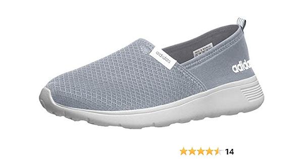 Amazon.com: adidas Womens Neo Lite Racer Slip On Sneakers - Grey ...