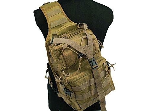 Tactical Molle Utility 3 vie Borsa a tracolla Borsa a tracolla dello zaino Escursioni a piedi Camping Cycling Medium Tan
