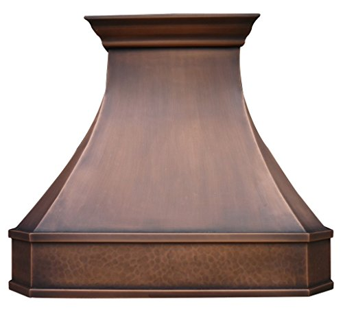 Copper Best H3 302127L Copper Kitchen Hood with Liner&Internal Motor 30 inch (Rustic Vent Hoods compare prices)