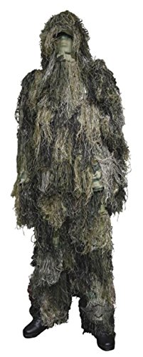 [Military Uniform Supply KIDS Ghillie Suit - WOODLAND CAMO - Large/XL] (Ghillie Suit Costume Youth)