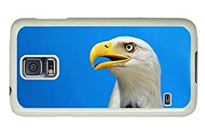 Hipster custom made Samsung Galaxy S5 Case bald eagle head hd PC White for Samsung S5