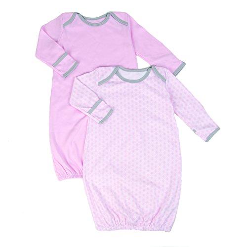 (Tadpoles Set of 2 Starburst Sleep Gowns, Pink, 0-6 Months)