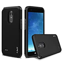 LG Stylo 3 Plus Case, LG Stylo 3 Case, J&D [ArmorBox] [Dual Layer] Hybrid Shock Proof Protective Rugged Case for LG Stylo 3 Plus/LG Stylo 3 - Black