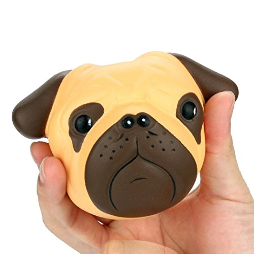 LUNIWEI Exquisite Fun Crazy Dog Squishy Super Jumbo Scented Slow Rising Rare Fun Toy for Stress Relief and Time Killing, Cell Phone Pendant Strap (Gross Halloween Games Touch)