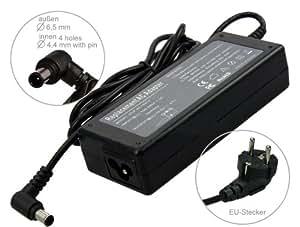 Portátil Fuente De Alimentación AC adaptador cargador para Sony VAIO NW26EG NW26JG NW26MRG, VGN-N31M. Cable de alimentación con Euro. De e-port24