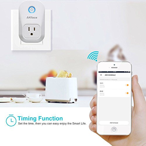 Akface Smart Power Plug Surge Protector, Wi-Fi Power Strip Socket, Compatible with Amazon Alexa Echo/Google Home, Enable Remote Control of Normal Electric Appliances via iPhone iPad Samsung and More by akface (Image #4)
