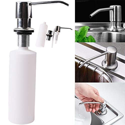 (Dirance Soap Dispenser Sink Kitchen Bathroom Cleaning Accessories Push-Type Switch soap Dispenser)
