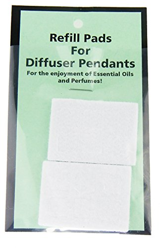 Rosemarie Collections Women's Aromatherapy Essential Oil Diffuser Pendant Necklace (Refill Pads)
