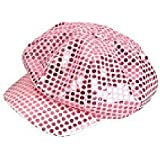 Sparkly Pink Sequin Newsboy Hat Girls Diva Cap