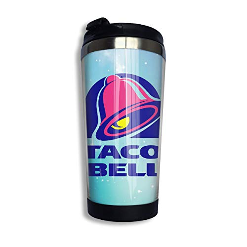 Taco Bell Durable Insulated Mug Travel Coffee Flask Vacuum Insulate Water Bottle, Stainless Steel Thermoses Water Cup