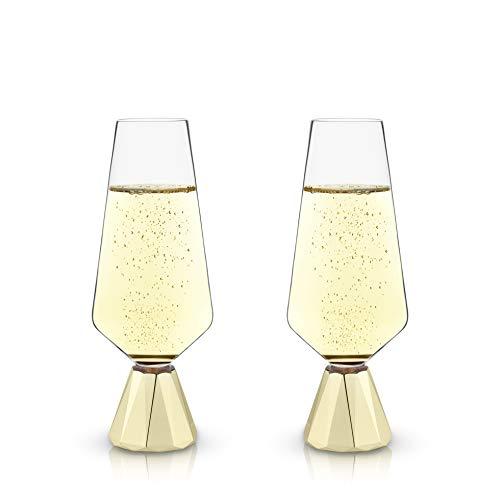 (Raye: Spire Crystal Champagne Flutes (VISKI) )