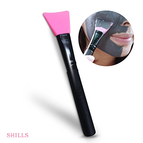 SHILLS Black Mask, Blackhead Remover Purifying Charcoal, Peel Off Black Mask, Acne Treatment, Black Peel Off Mud Facial Mask Brush (Pink)]()