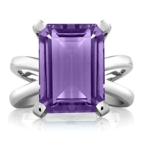 Gem Stone King Purple Amethyst 925 Sterling Silver Women