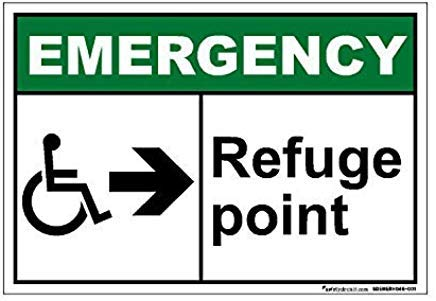 Refuge Point - Emergency Refuge Point Sign Lable Decal Vinyl Warning Stickers Truck Car Van Property Safety Sign Stickers 10