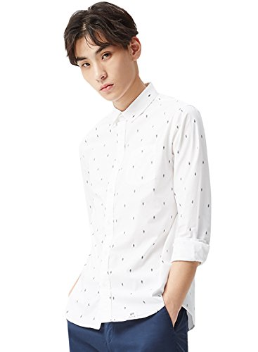 meters-bonwe-mens-printed-chest-pocket-long-sleeve-casual-shirt-white-m