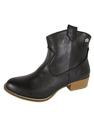 MTNG Mustang Womens 58412 Western Ankle Boot Shoes, Grey, 36 EU / 5.5-6 US