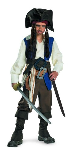 Jack Captain For Sparrow Kids Costume (Captain Jack Sparrow Deluxe Child Costume - Small)
