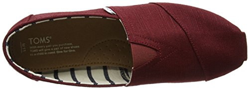 Shoes Classics on Heritage Black Women's Cherry Seasonal Canvas Slip TOMS w7qXfSS