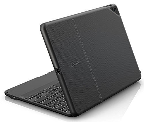 ZAGG Folio Case Hinged with Backlit Bluetooth Keyboard for Apple iPad Pro 97inch  Black