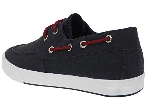 G-naker Meras Navy Bateau - Chaussures Basses Cuir ou Simili Bleu Marine / Bleu Nuit Q6XnoK