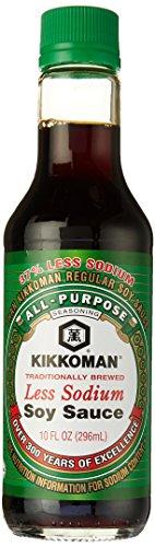 Kikkoman Soy Sauce Less Sodium, 10 oz