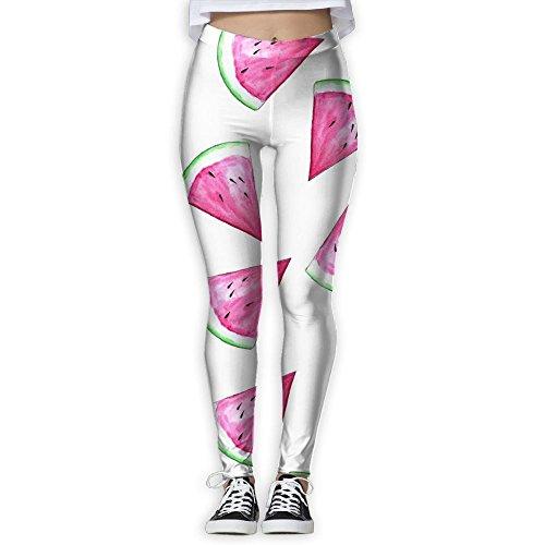 MIULOP CMILC Women's High Waist Yoga Pants Cute Watermelon Tummy Control Workout Running 4 Way Stretch Yoga Leggings