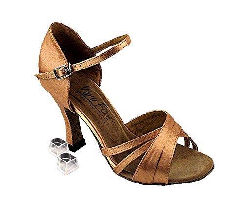 Very Fine Dance Shoes 6030 Brown Satin, 3'' Heel, Size 8